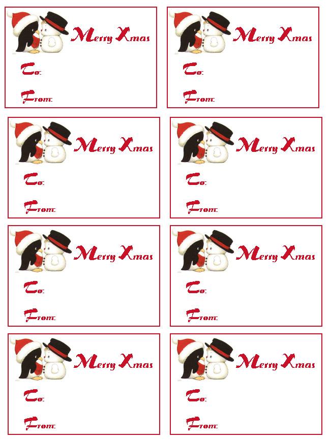 8 Images of Christmas Gift Name Tags Printables