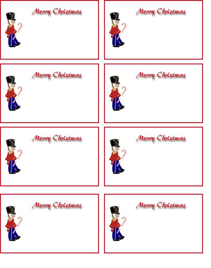 Printable Christmas Name Tags