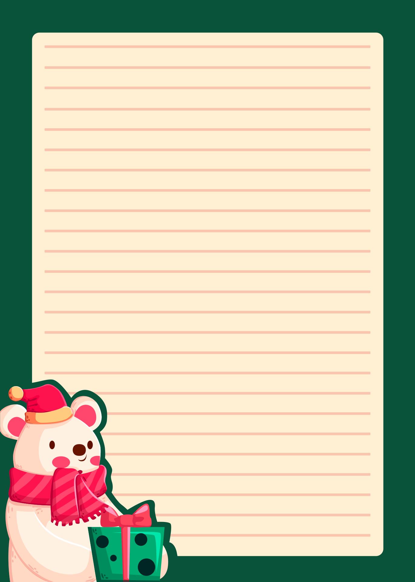 Printable Christmas Stationery Paper