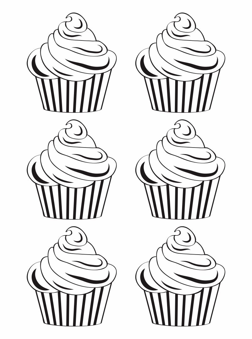 Printable Cupcake Cutouts