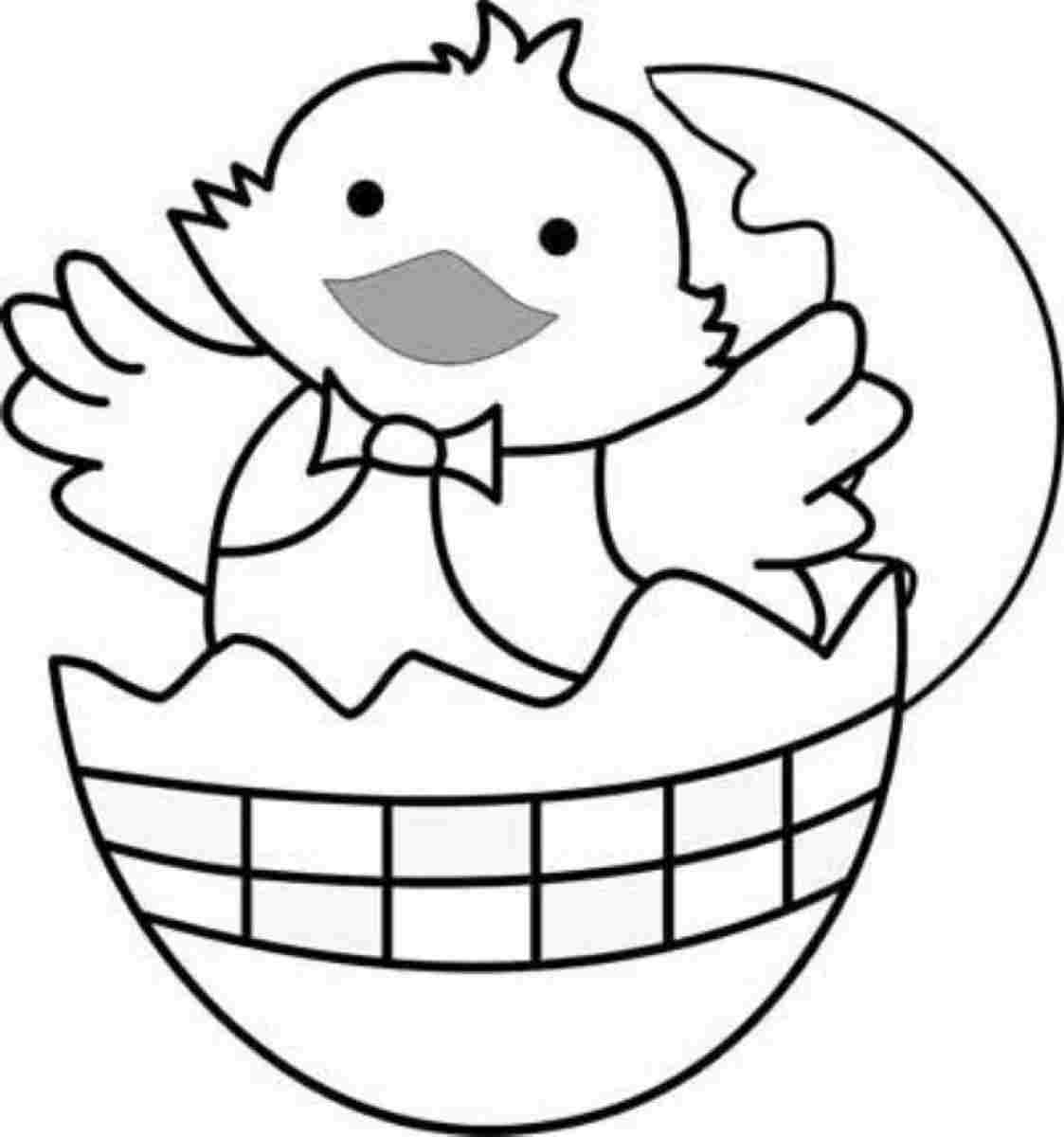 Free Printable Easter Chick Coloring Pages