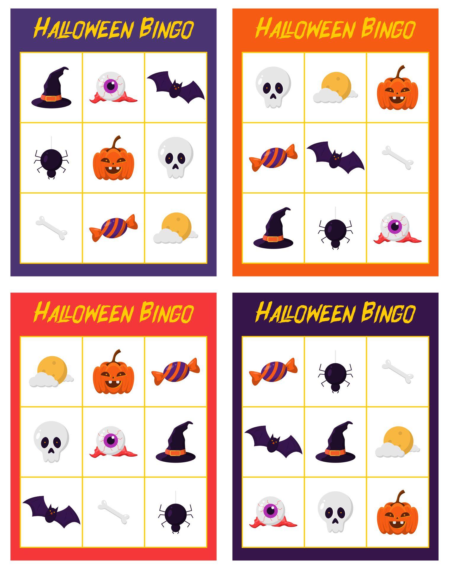 Free Printable Halloween Bingo Game Cards