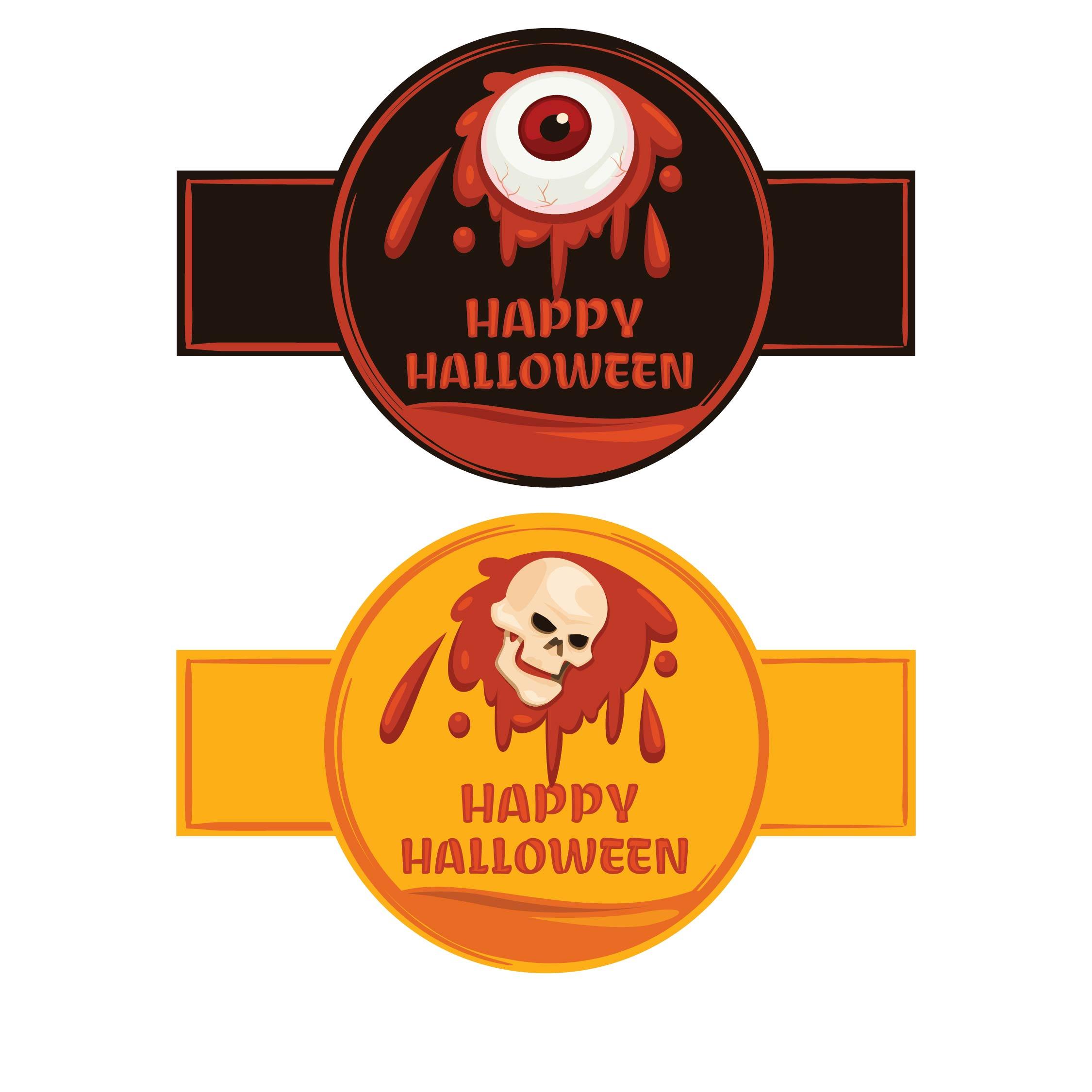 Printable Halloween Bottle Labels