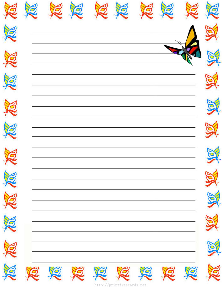This is a graphic of Printable Lined Paper With Border inside decorative