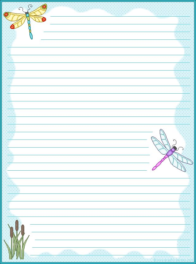 Free Printable Lined Stationery Paper