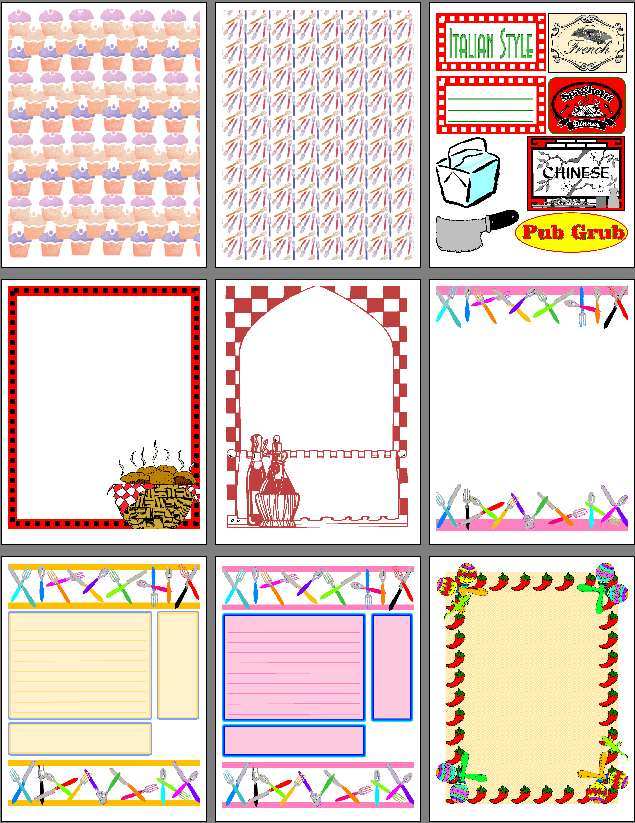 7 Images of Printable Scrapbook Designs