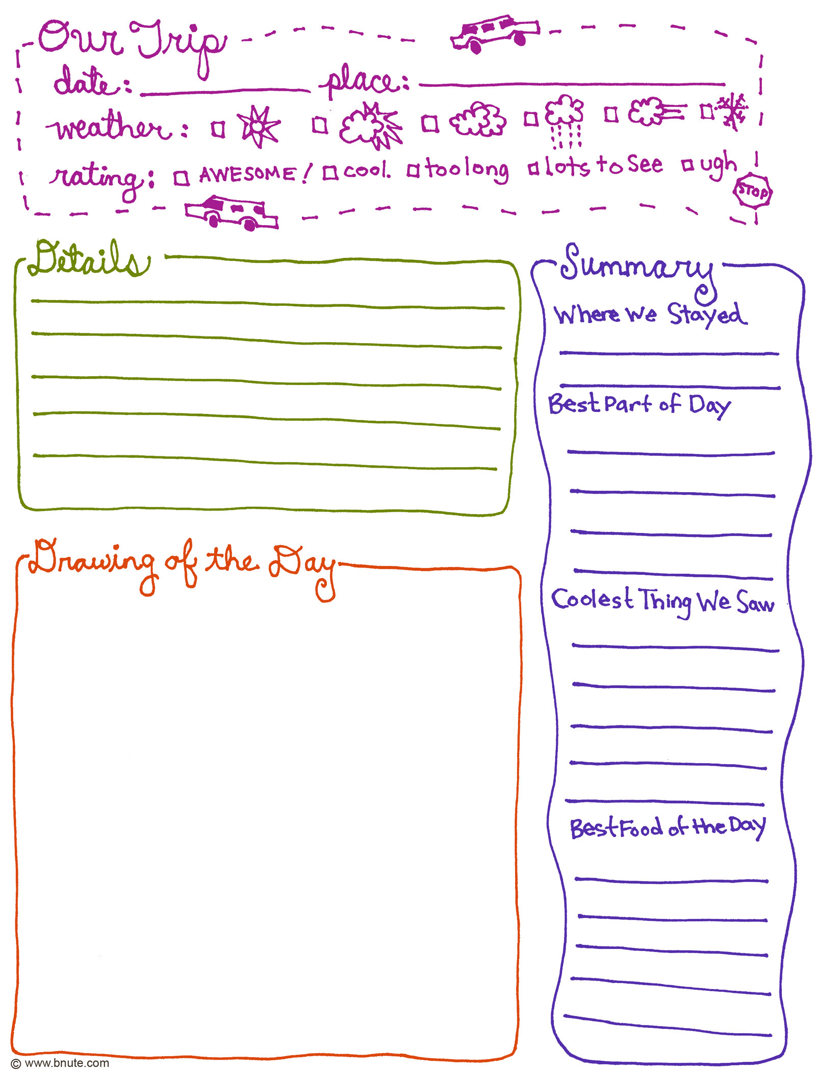 4 Images of Printable Daily Journal Sheets