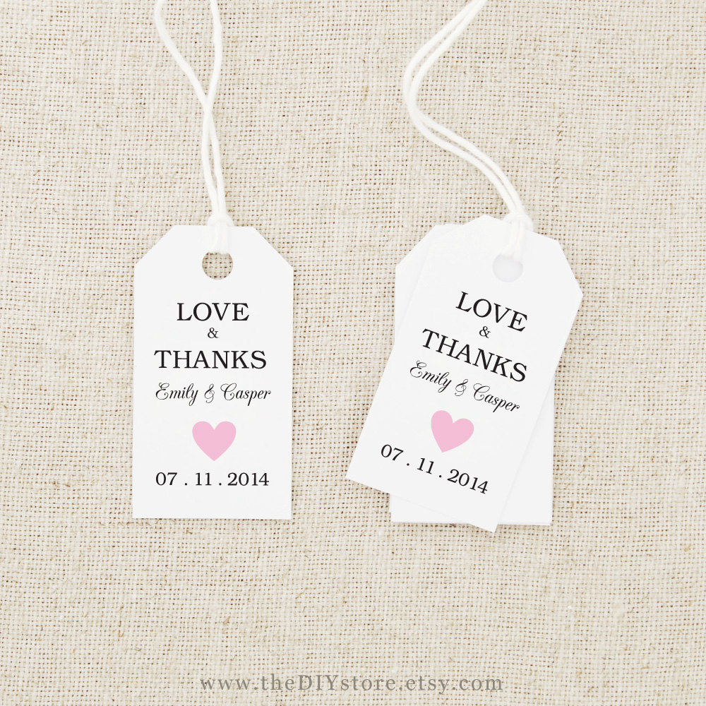 Printable Wedding Tags Templates - Free Printable Wedding Favor Tags ...