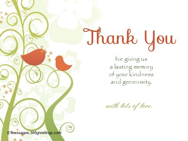 Free Thank You Card Messages
