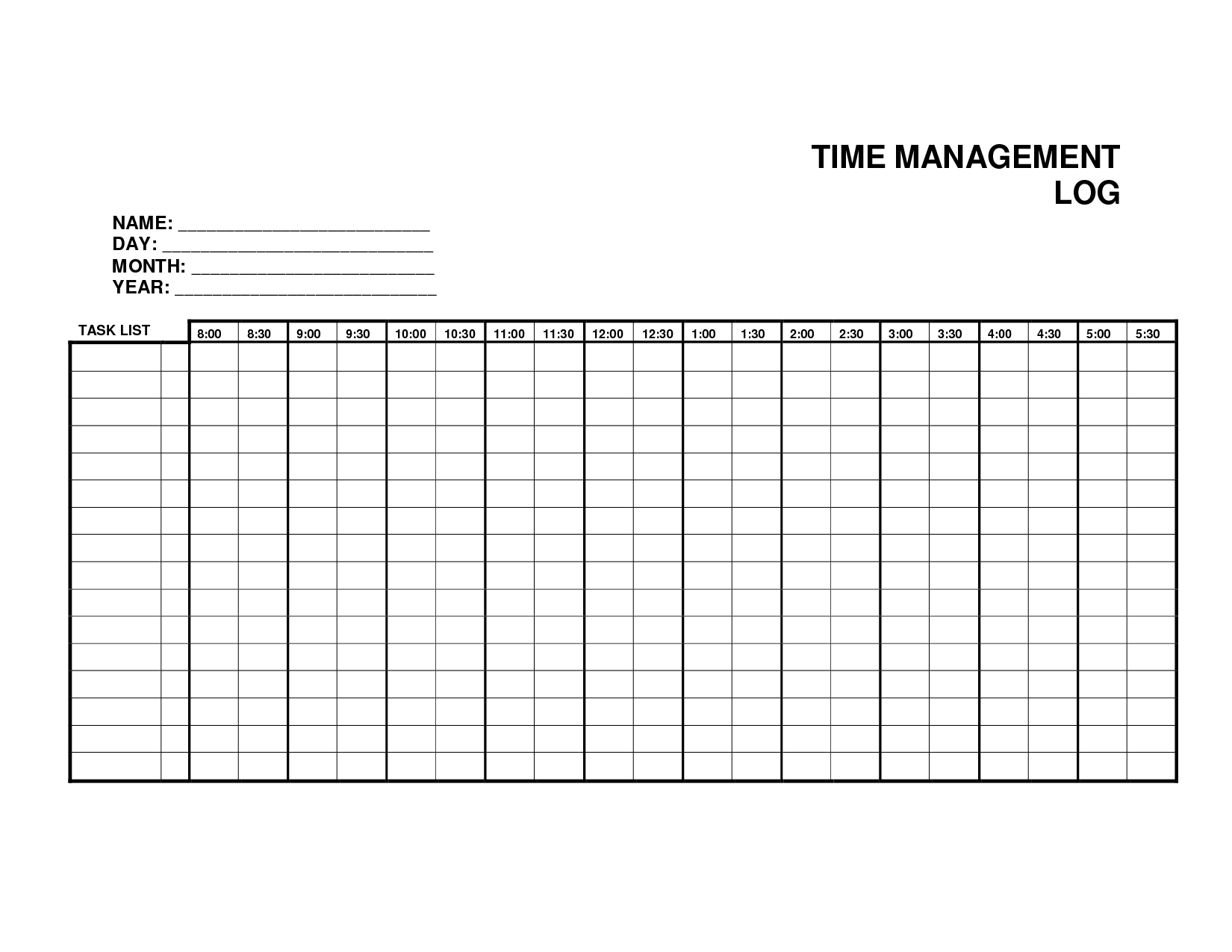of Printable Weekly Time Log - Daily Work Log Sheet Template, Time ...
