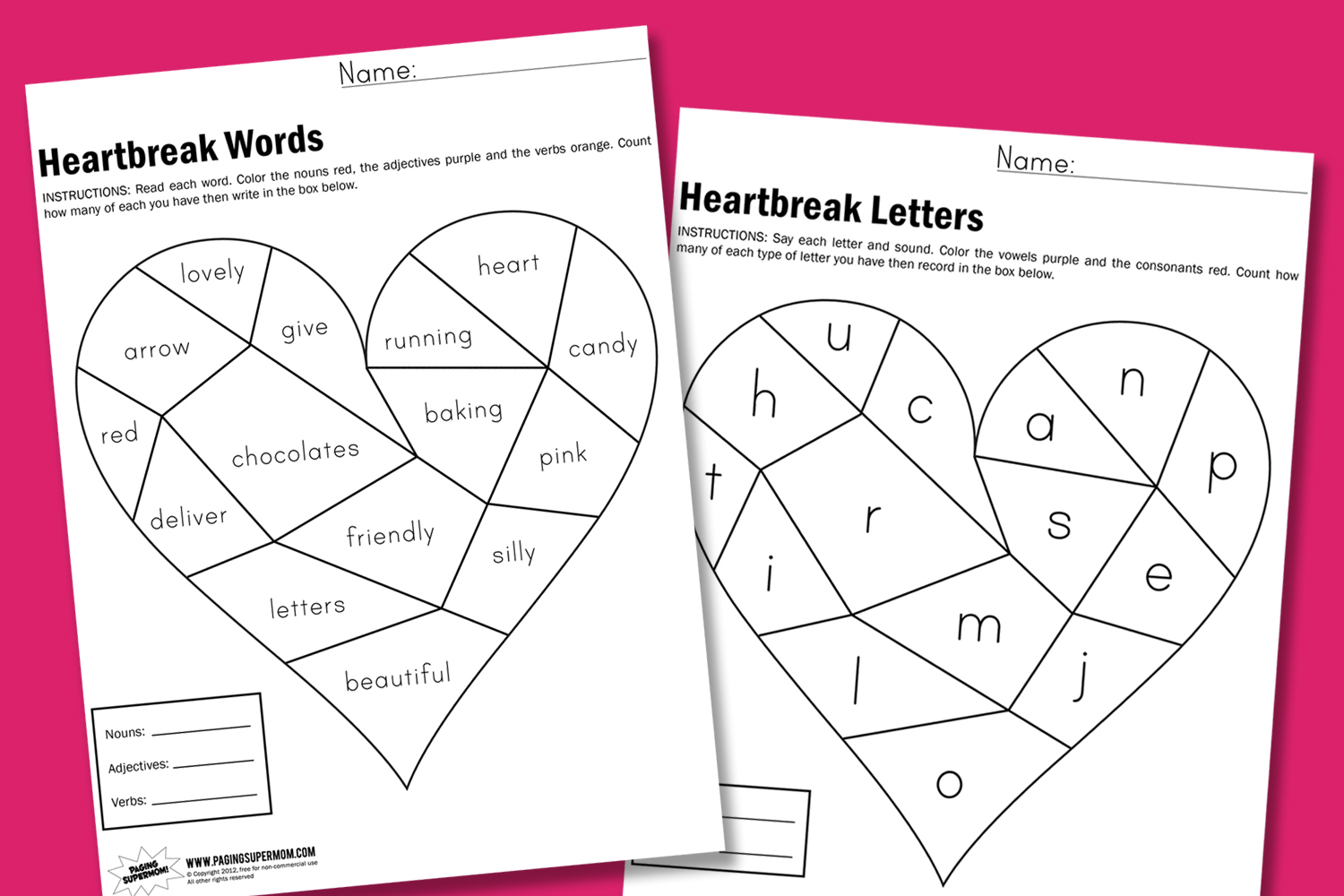 Valentine Easy Worksheets : Free valentine worksheets second grade s day