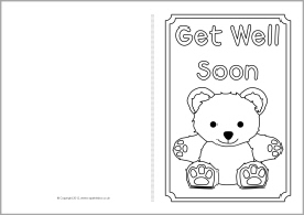 Card printable images gallery category page 64 for Get well soon card coloring pages