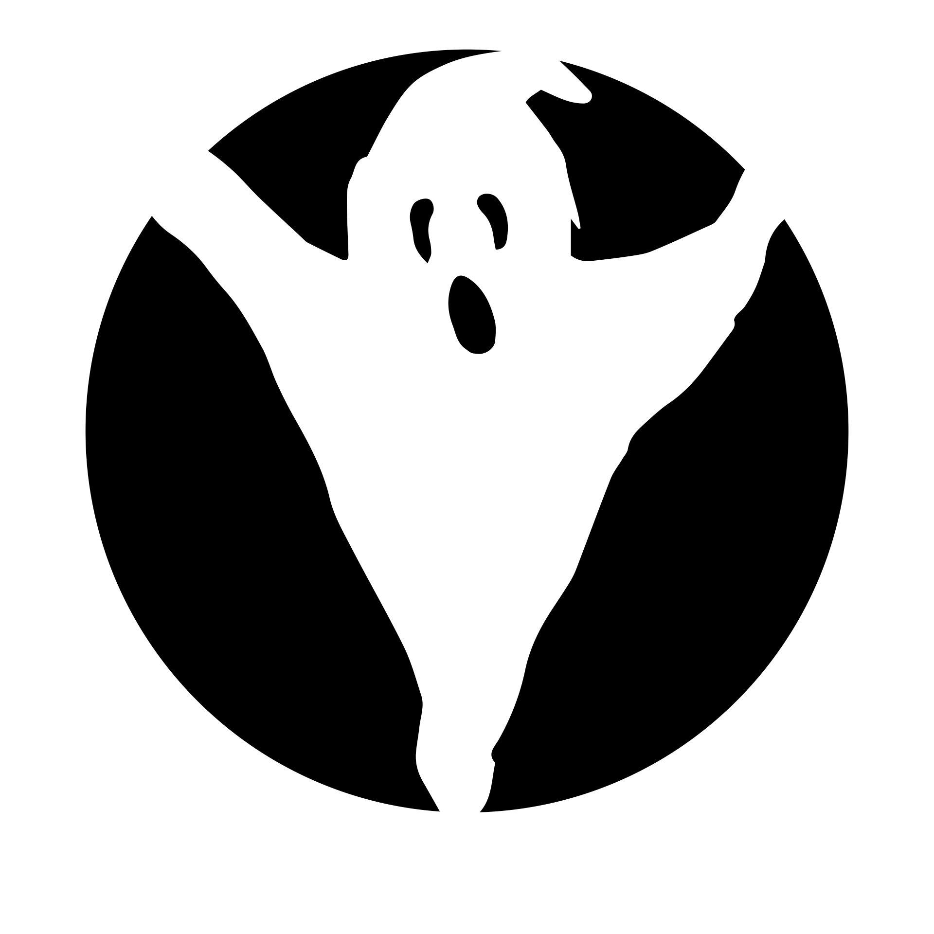 Ghost Pumpkin Carving Stencils Templates