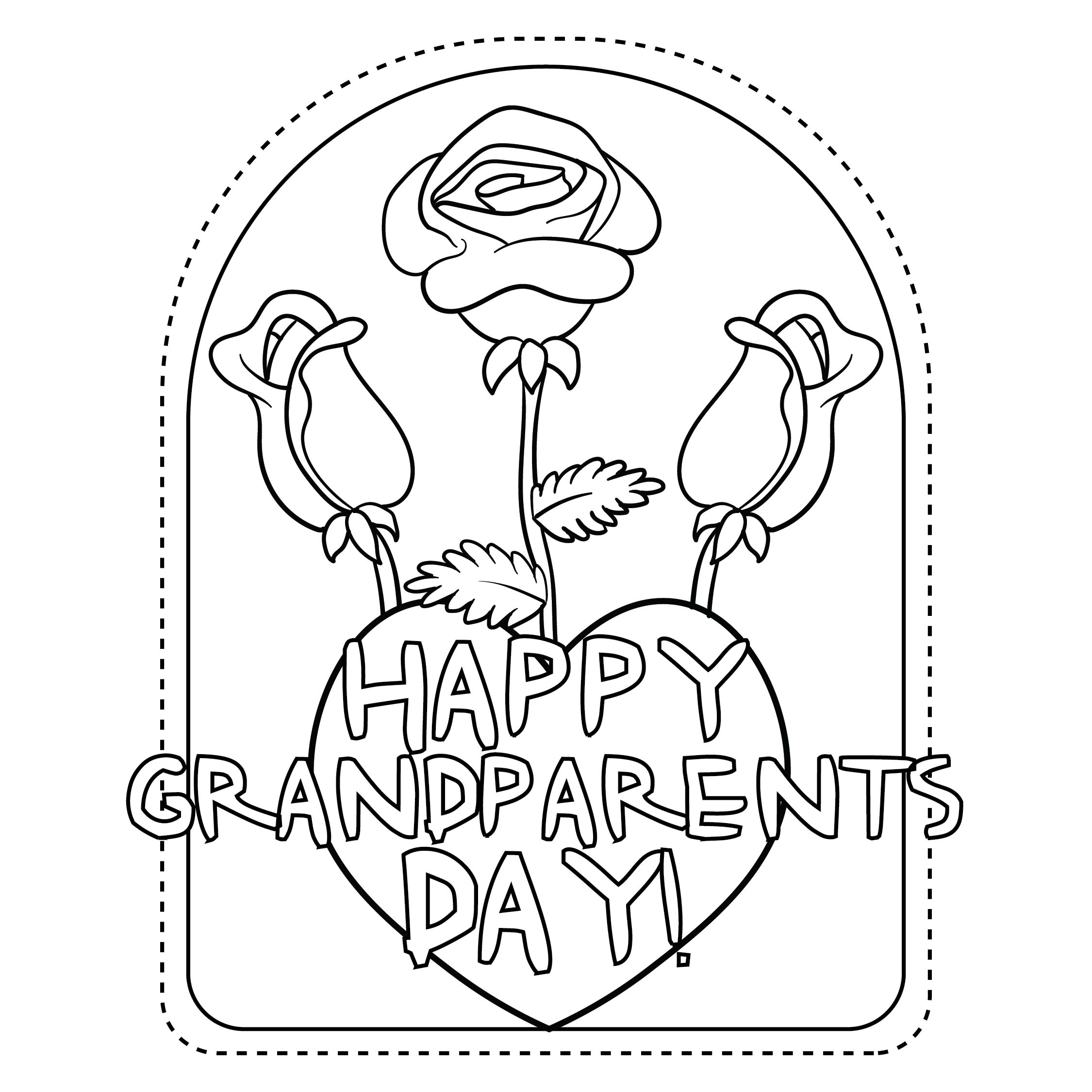 Grandparents free printable craftbnb for Coloring pages for grandparents