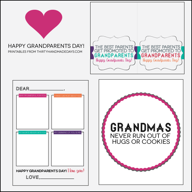 4 Images of Grandparents Day Printables