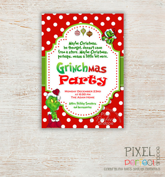 8 Best Images of Grinch Birthday Invitations Printable ...