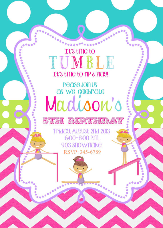 7 Best Images of Gymnastic Birthday Invitations Printable ...