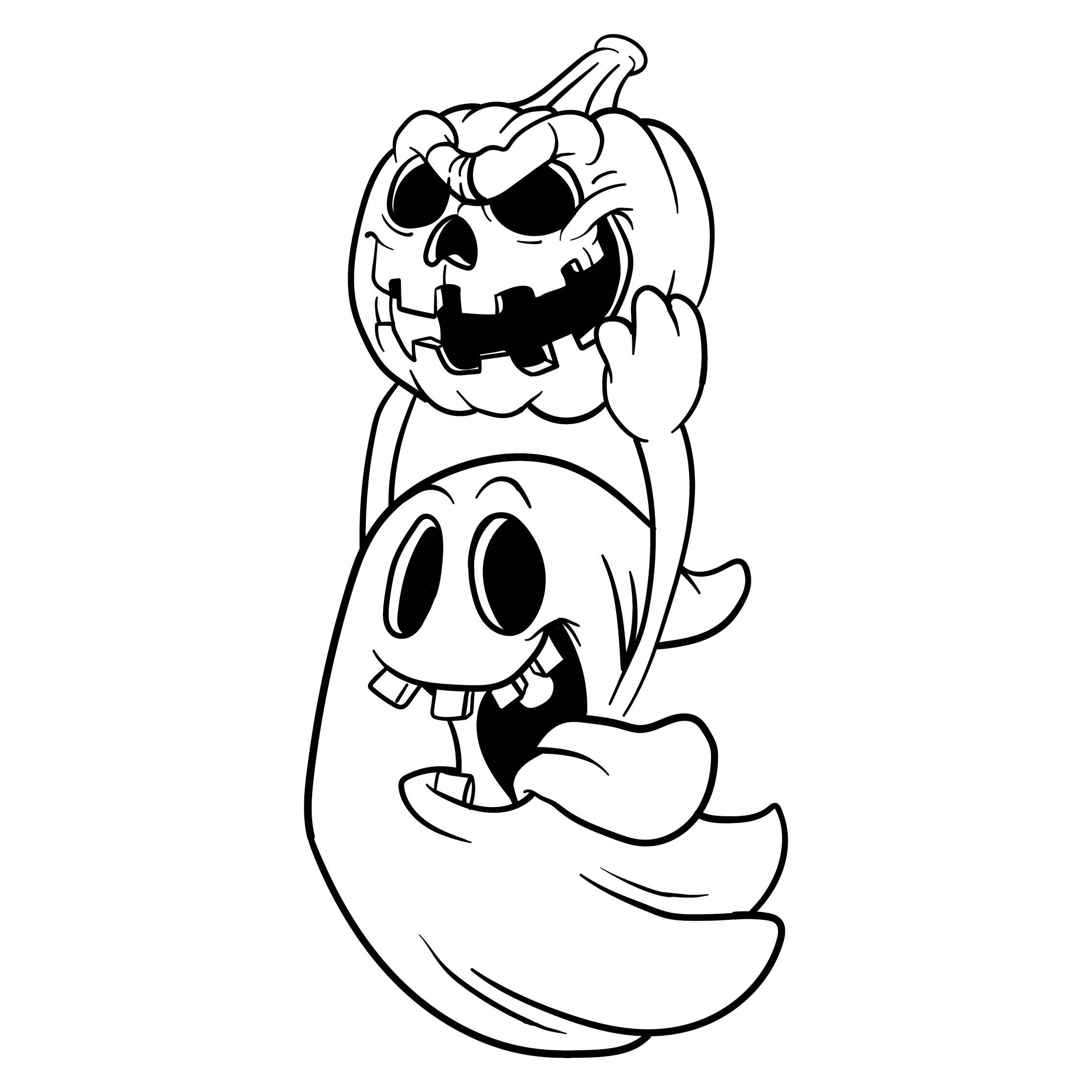 Halloween Ghost Stencils