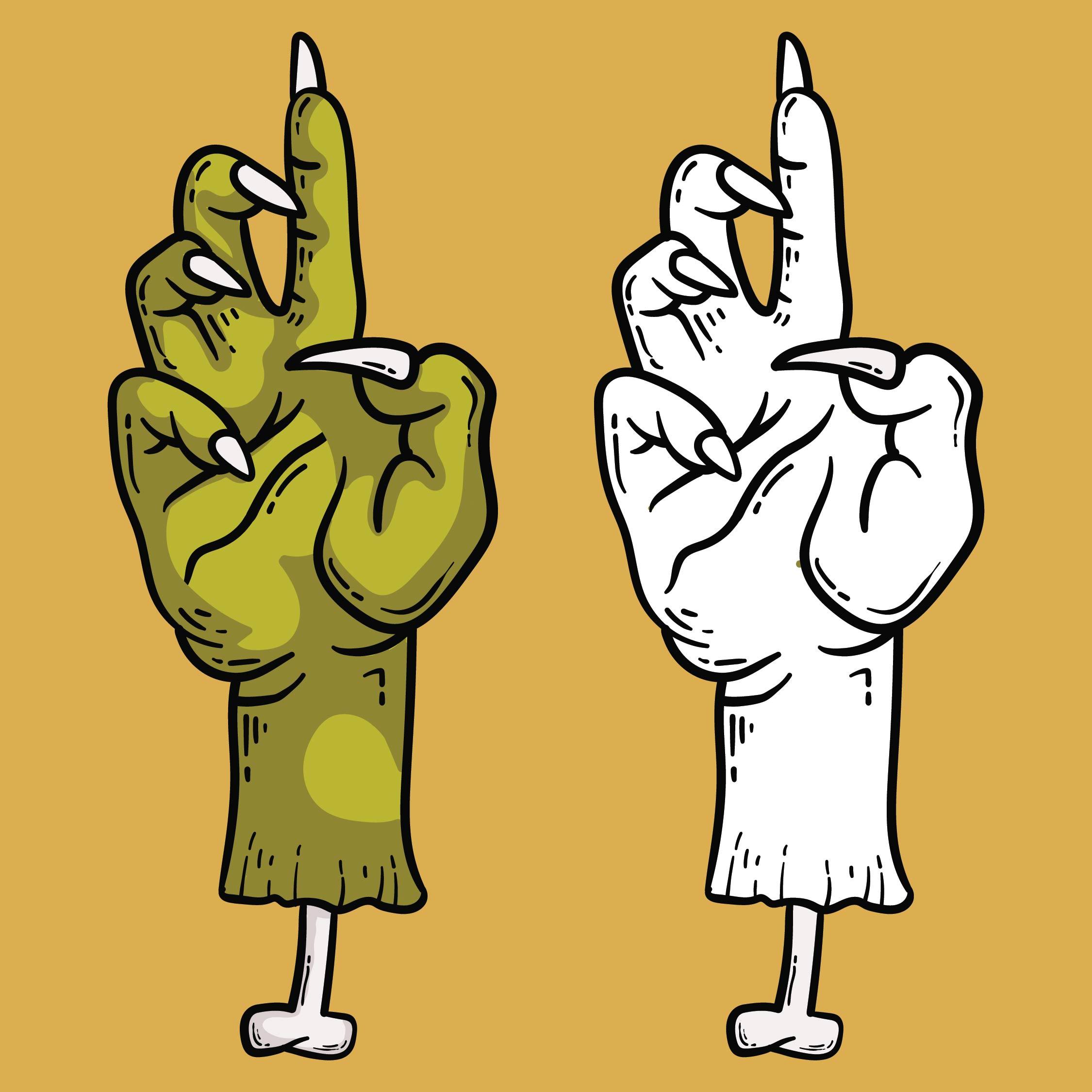 Halloween Hand Stencils
