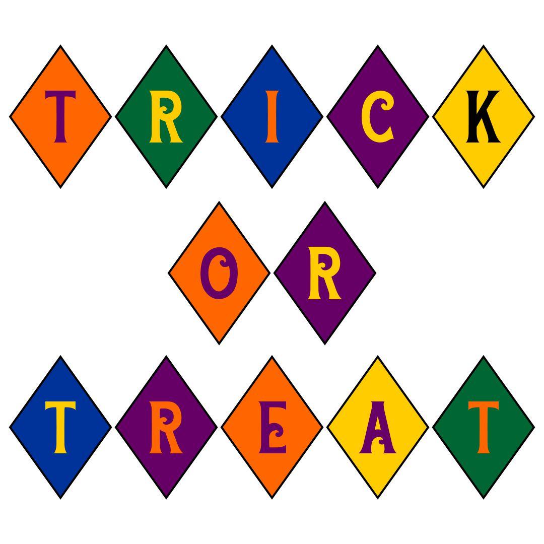Halloween Trick or Treat Banner Printable