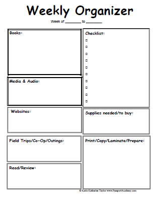 9 Best Images Of Free Printable Planner Organizer