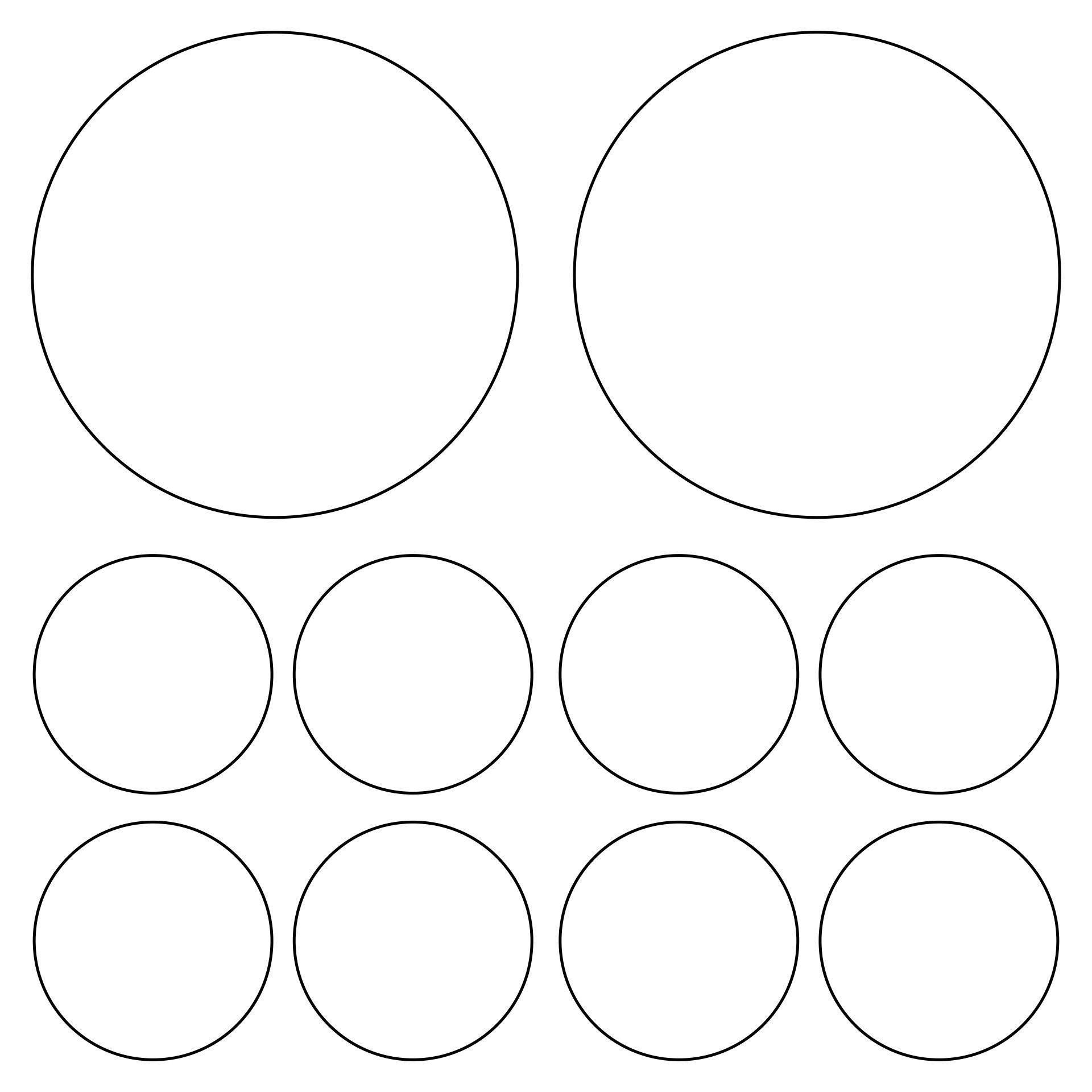 Inch Circle Template Printable