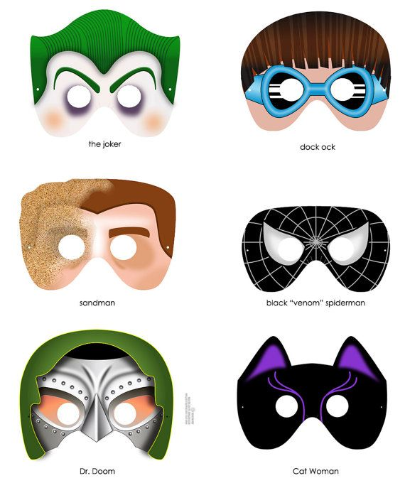 5 Images of Printable Joker Mask