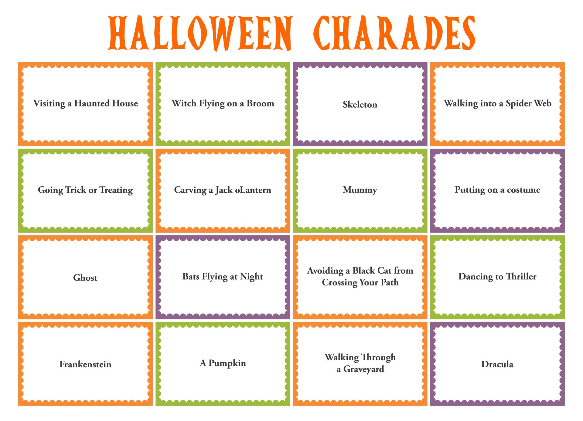 Kids Halloween Party Game Charades
