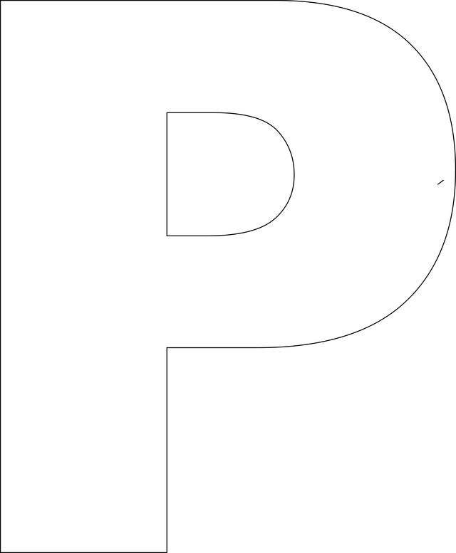 5 Images of Printable Large Alphabet Letters P