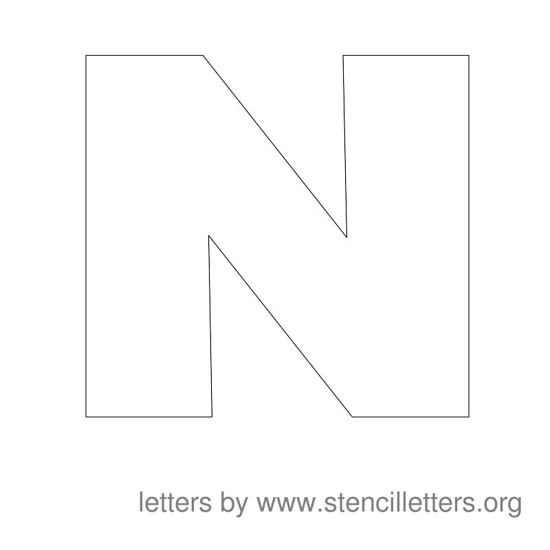 6 Images of Free Printable Letter Stencils N