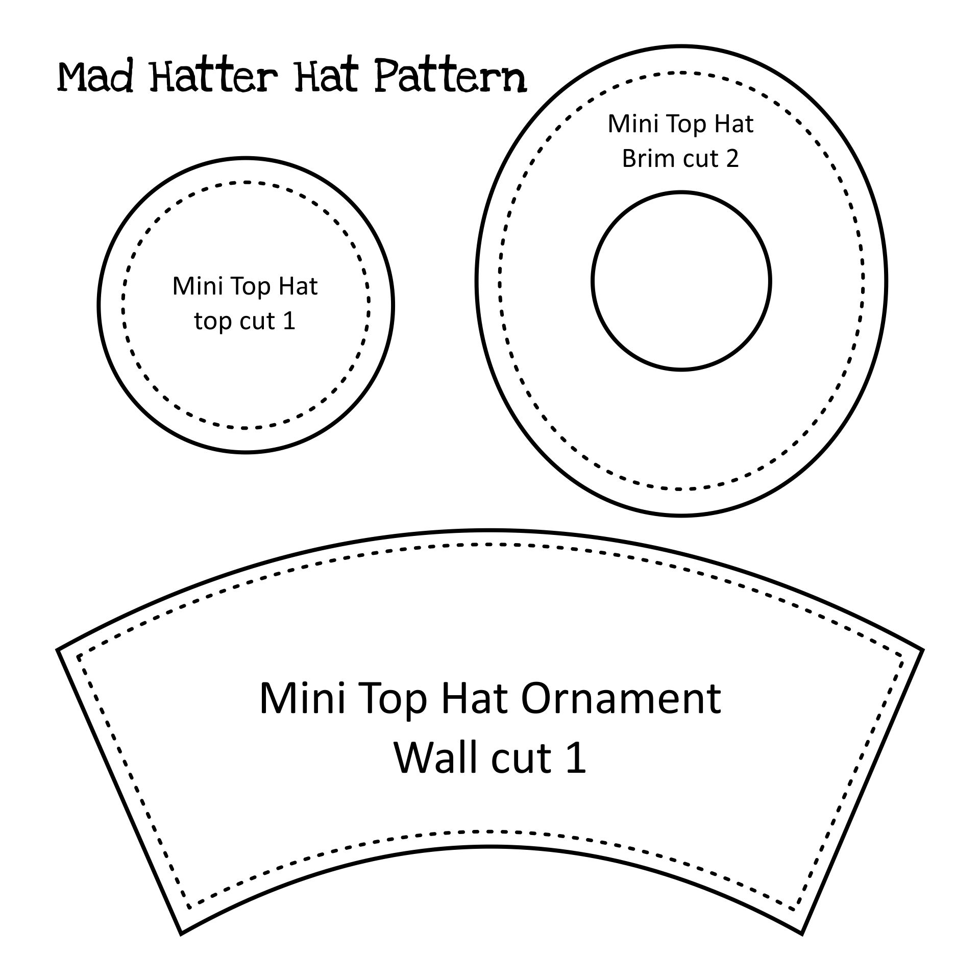 Mad Hatter Top Hat Pattern