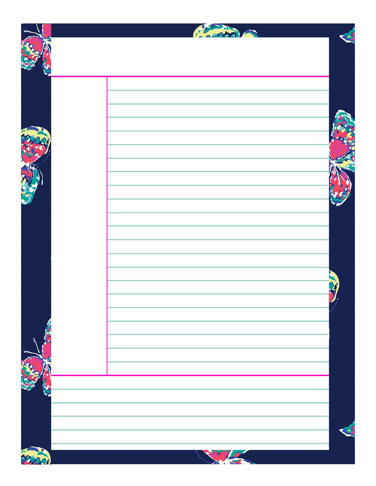 7 Images of Printable Note Taking Paper