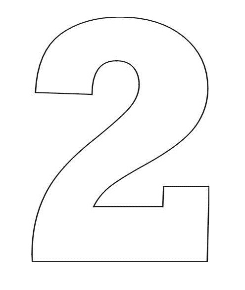 4 Images of Free Printable Stencil Number 2