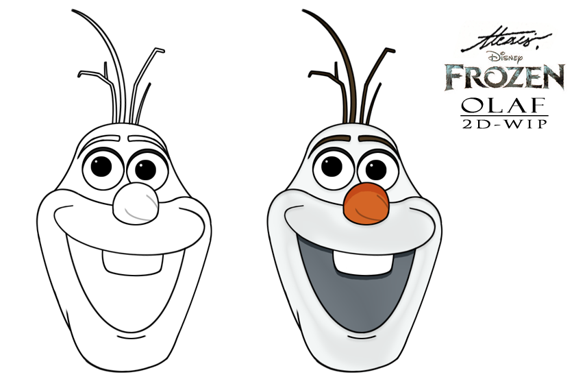 7 Images of Olaf Head Printable