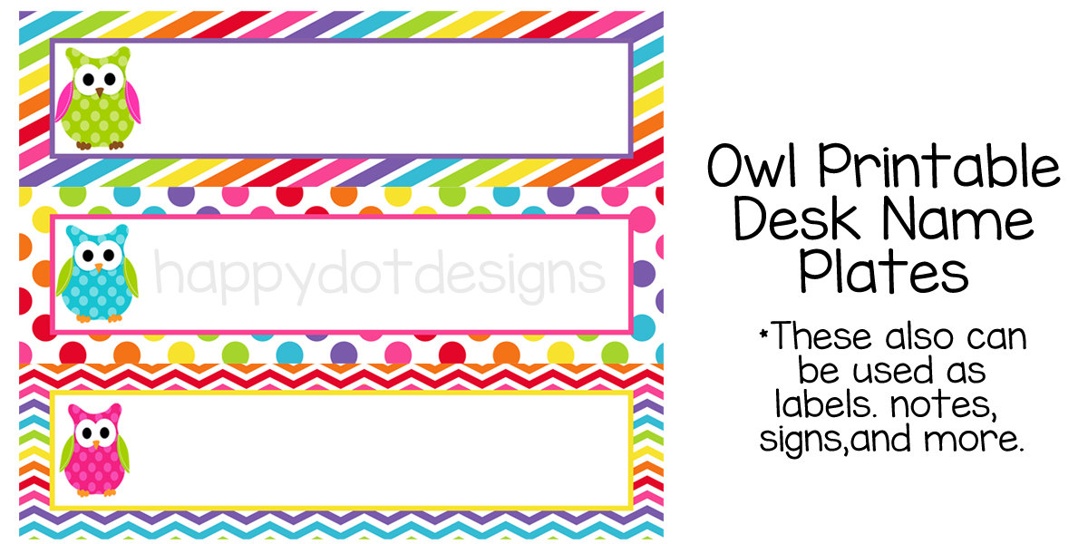 7 best images of owl tables labels printable free for Table name tags template printable