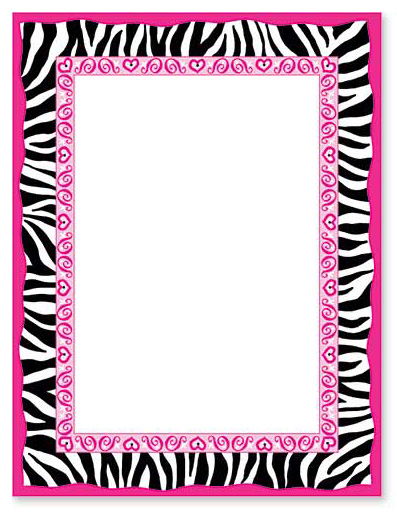 8 Images of Free Printable Zebra Borders