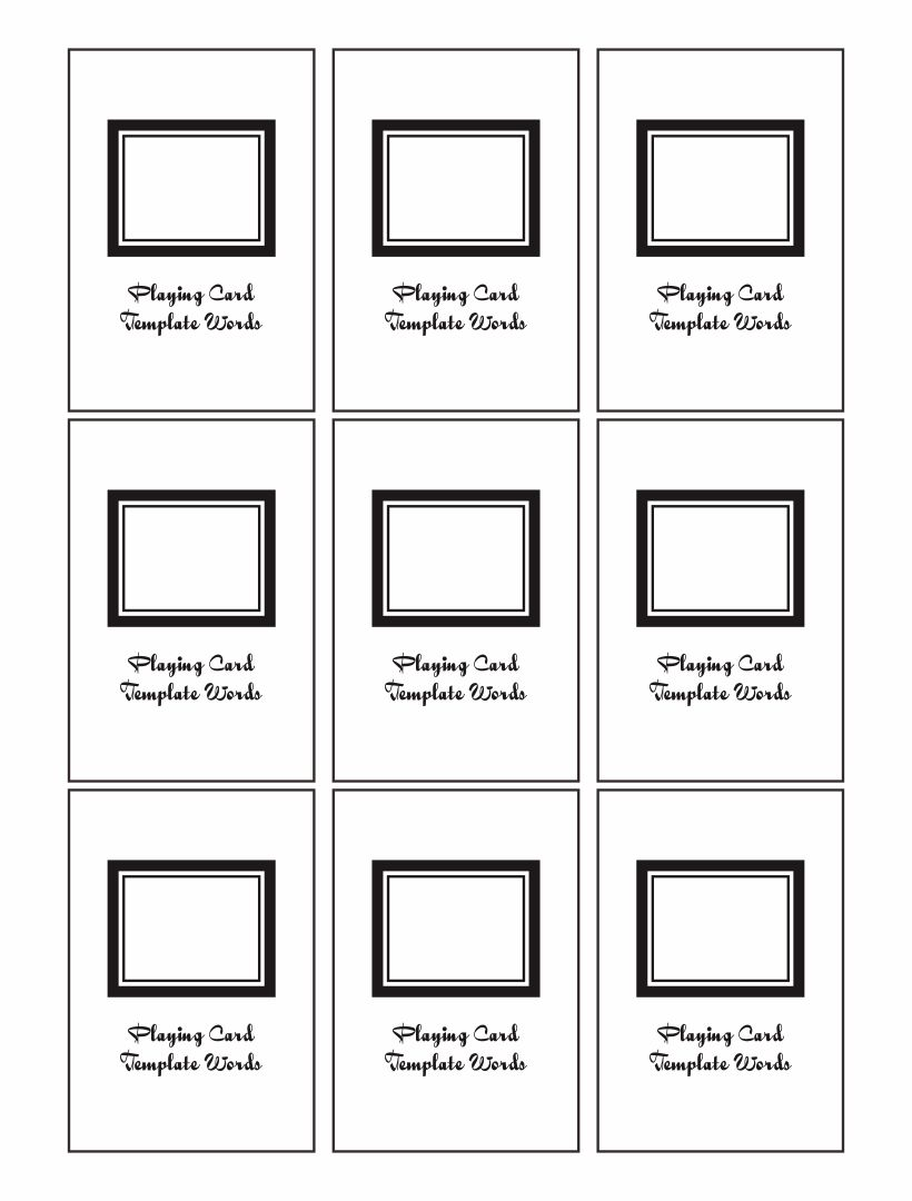8 best images of blank playing card printable template for for Flashcard template for word