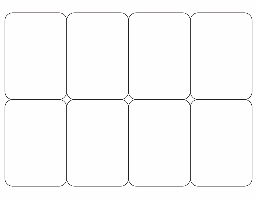 8 best images of blank playing card printable template for for Jumbo postcard template