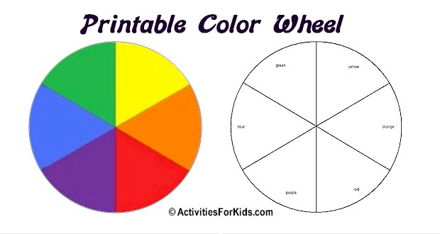 4 Best Images Of 5 Basic Color Wheel Printable Primary