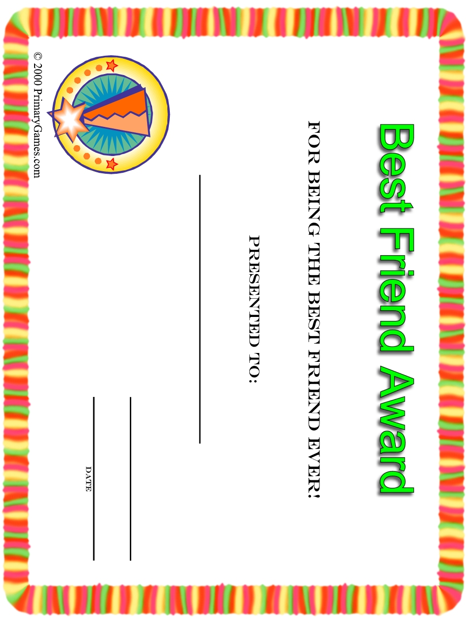 6 Best Images of Printable Friendship Cards To Color