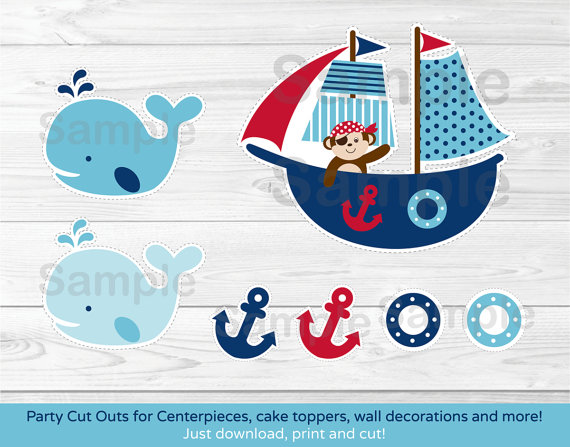 9 Images of Free Printable Nautical Whale