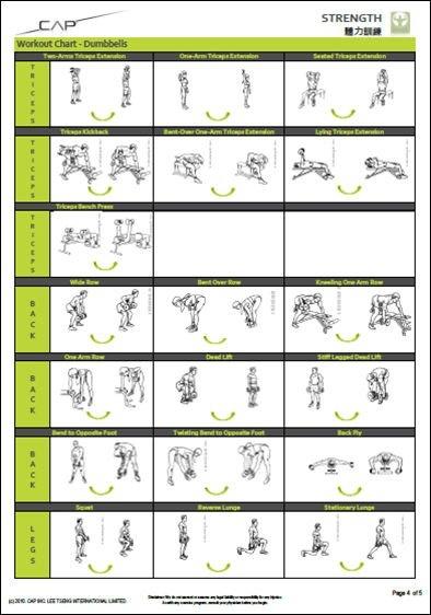 Printable Dumbbell Workout Charts - Printable dumbbell workout chart ...