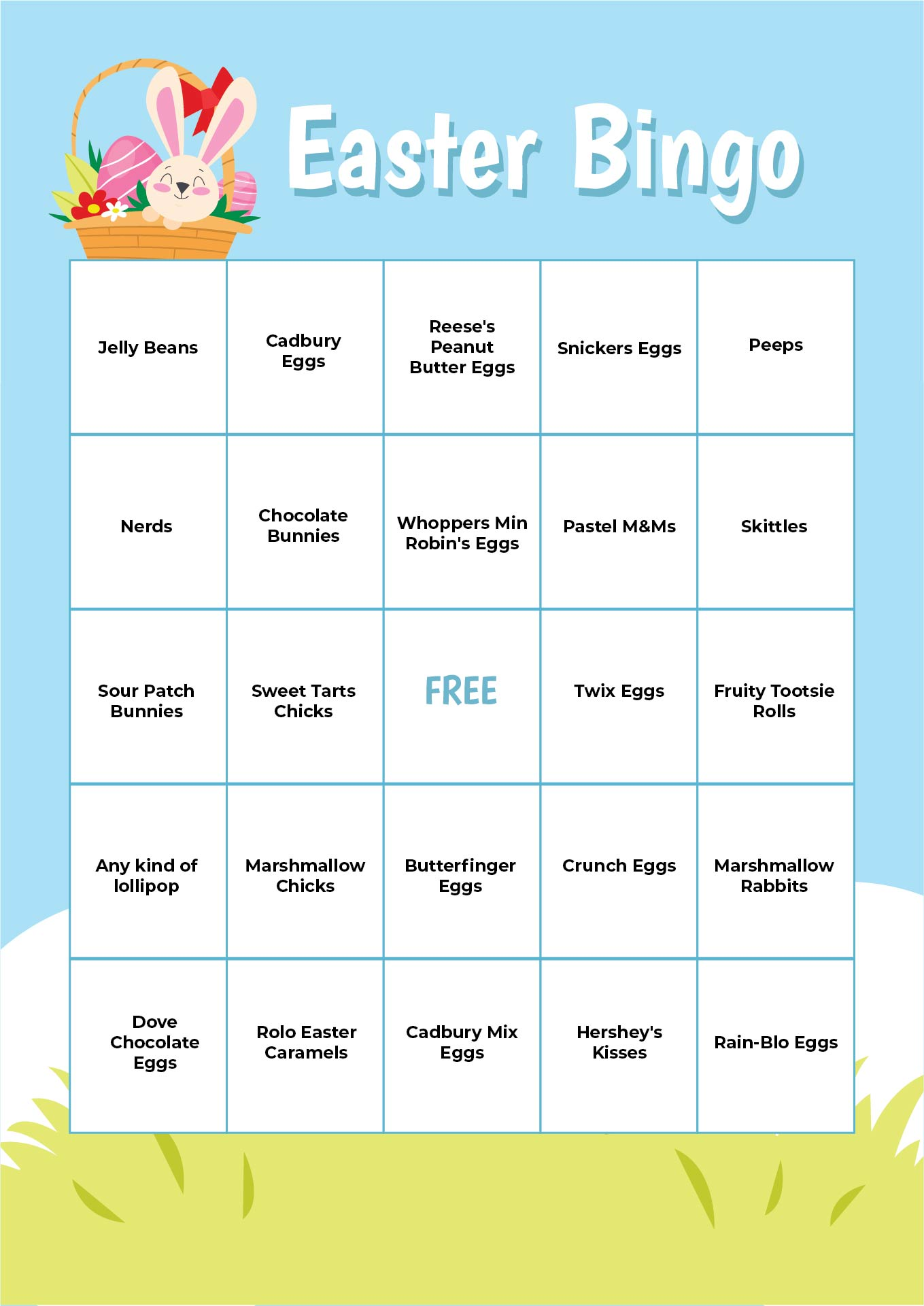 7 Images of Printable Easter Bingo Games