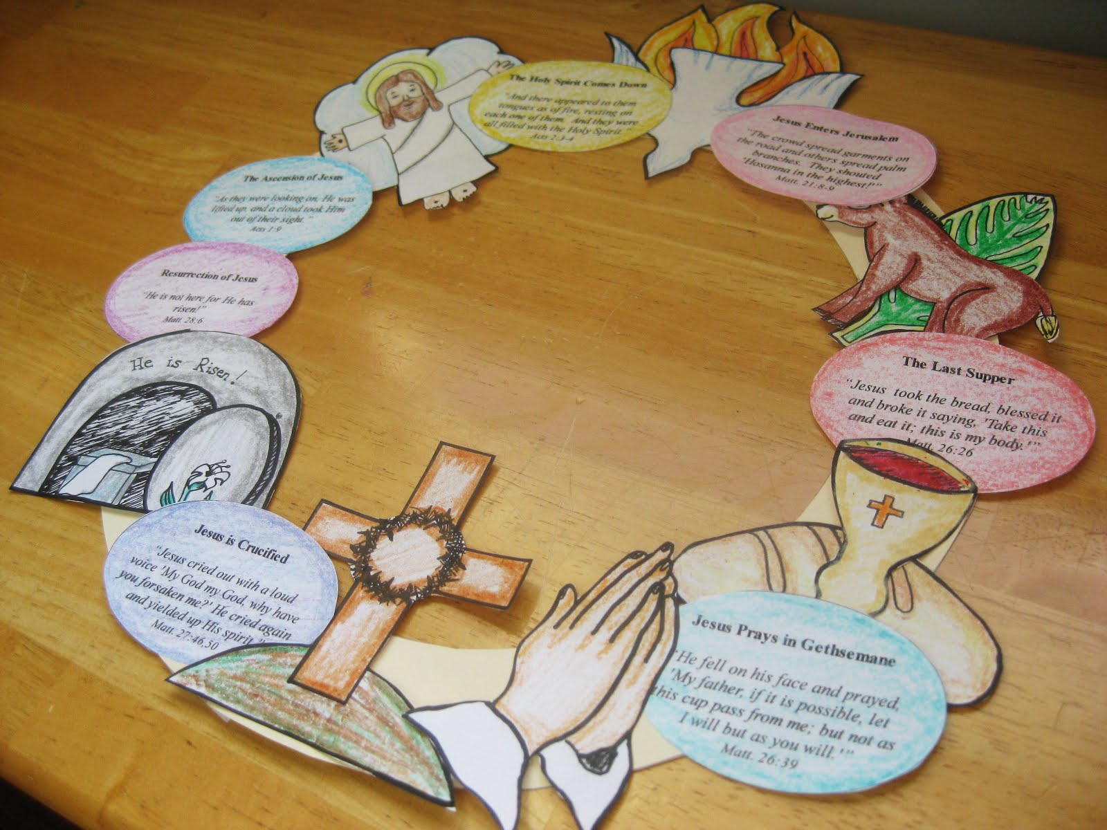 4 Images of Printable Easter Story Wreath