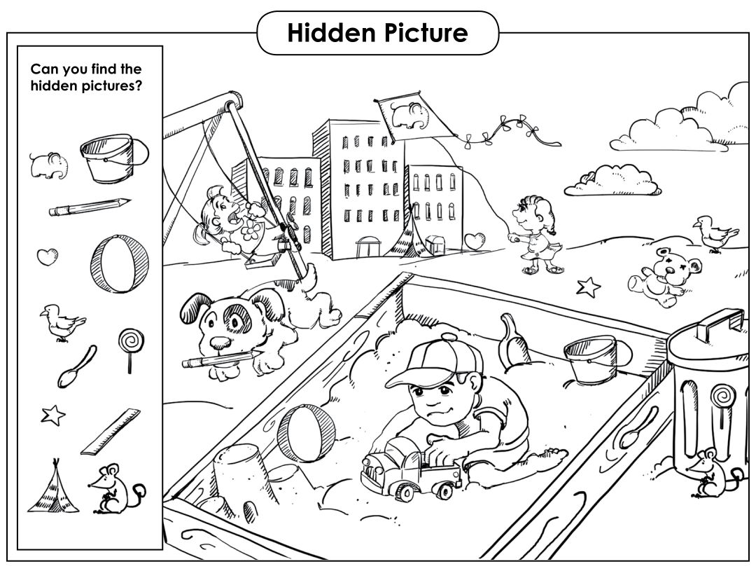 Printable Hidden Object Games for Kids
