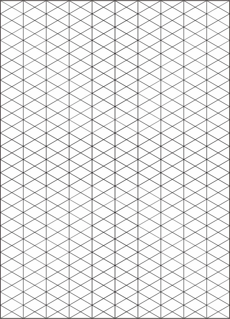 6 Images of Printable Isometric Grid Paper
