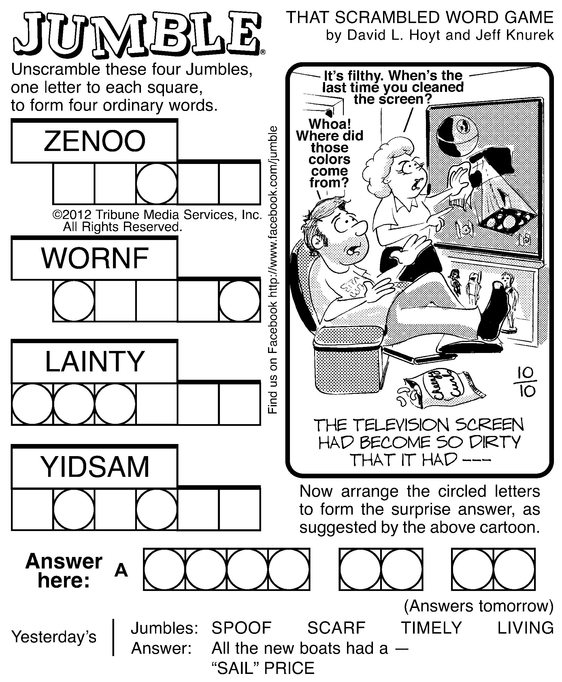 Worksheet Printable Word Jumbles 8 best images of spring printable word jumbles jumble puzzles