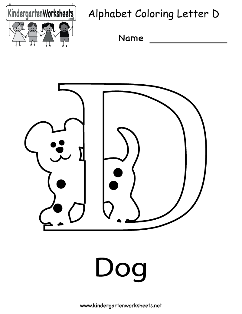 6 Images of Printable Letter D Worksheets For Kindergarten