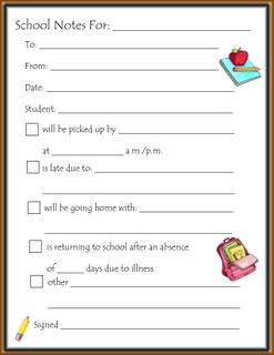 6 Images of Back To School Notes Printable