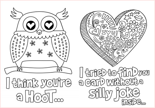 5 Images of Color Your Own Printable Valentine's Day Cards